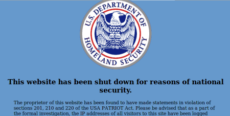 Digizine.com censored by Dept Homeland Security