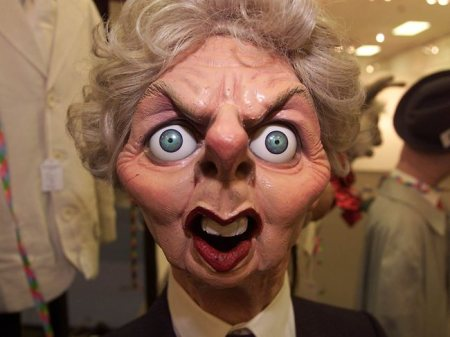 Margaret Thatcher, milk-snatcher.  1925-2013... took bloody long enough didn't she!