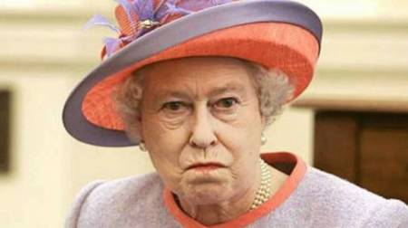 "British dictator for life Queen Elizabeth II.  Don't mess with this bitch!""  Picture stolen in the interests for freedom from http://guardianlv.com/"